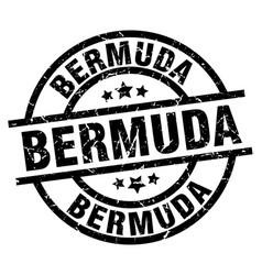 bermuda black round grunge stamp vector image