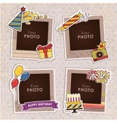 Birthday photo frame vector