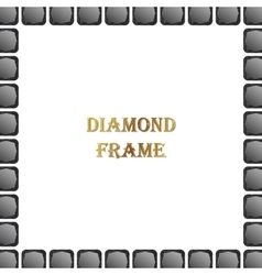 Black diamond square frame vector
