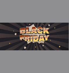 Black friday sale vintage glossy text on speech vector