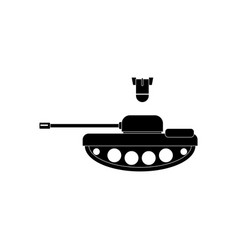 Black icon on white background tank and mortar vector