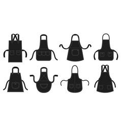 Black kitchens aprons waiter apron restaurant vector