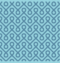 Blue linear weaved seamless pattern vector
