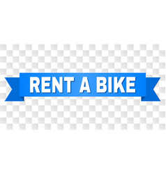 blue ribbon with rent a bike text vector image
