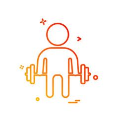 body builder icon design vector image