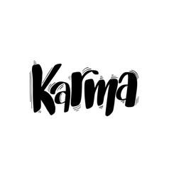 Brush lettering karma vector