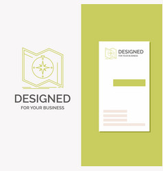 business logo for direction explore map navigate vector image