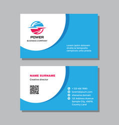 Business visit card template with logo - concept vector