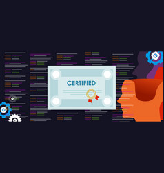 Certified application developer computer vector