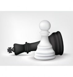 Chess pawn and king vector