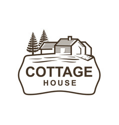 Cottage logo vector