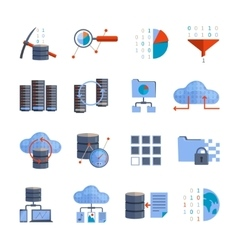 Data Processing Icons vector