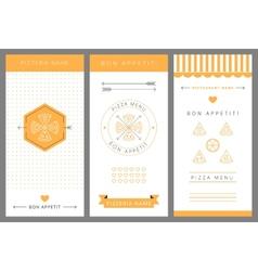 Design menu Pizza vector
