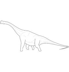 Diplodocus Dinosaur line-art vector