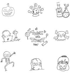 Doodle of Scary element Halloween vector