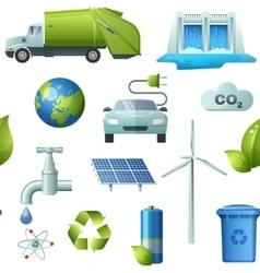 Ecology Seamless Elements Pattern vector