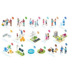 Economy and society sustainable development vector