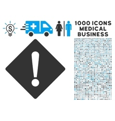 Error Icon with 1000 Medical Business Symbols vector image