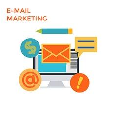 Flat Design E-Mail Marketing vector image
