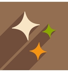 Flat with shadow icon and mobile application stars vector