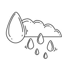 Gardening rain icon hand drawn icon outline black vector