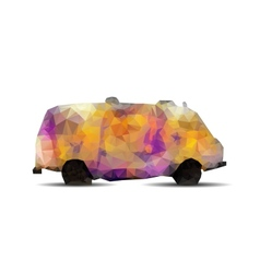 Geometric polygonal Graffiti van vector image