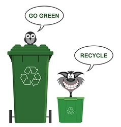 Go Green recycle vector