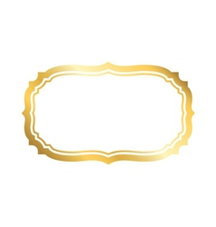 Gold frame simple white golden vector image