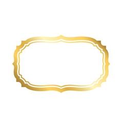 Gold frame simple white golden vector