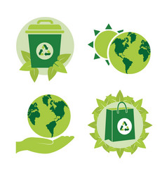 green energy collection vector image