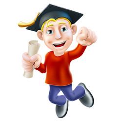 happy graduate vector image