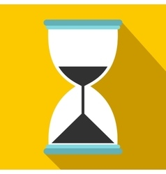 Hourglass icon in flat style vector image