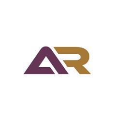 Initial ar logo bold template vector