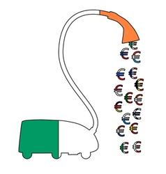 Irish Euro vacuum cleaner vector image