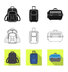 isolated object of suitcase and baggage icon vector image
