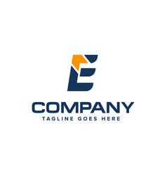 letter e and arrow logo design abstract logo vector image