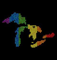 Lgbt pixel great lakes map vector