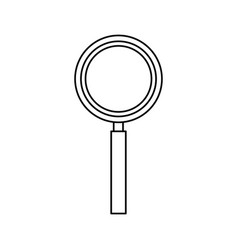 magnifier search loupe tool zoom find vector image