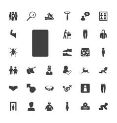Male icons vector