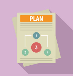Management plan icon flat style vector