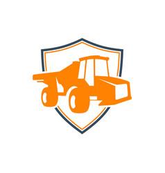 mine car shield modern logo vector image