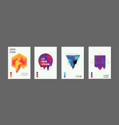 modern abstract covers set vector image