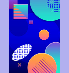 Modern abstract poster vector
