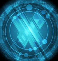 modern cross symbol background vector image