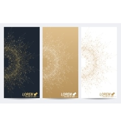 Modern set of flyers Geometric abstract vector image