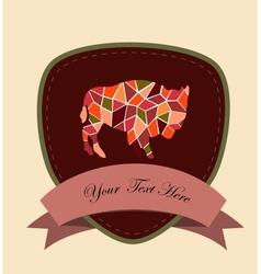 Mosaic buffalo vector