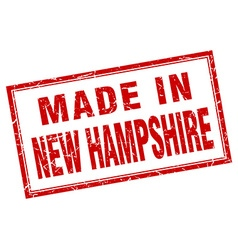 New Hampshire red square grunge made in stamp vector