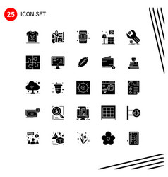 Pack 25 creative solid glyphs lump living vector