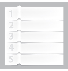 Paper infographic banner vector