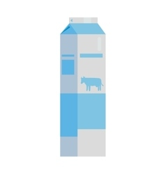 Paper Packaging for Milk Products vector image
